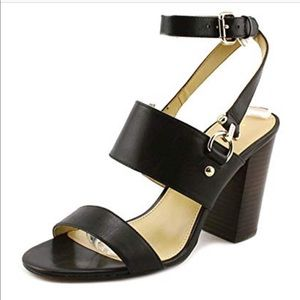 Coach women's black strappy sandal